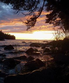 Bonfires,Home Cooking,Waves,the kuplunk of boat against the docks,sunsets galore. Hugginin Cove, Isle Royale National Park