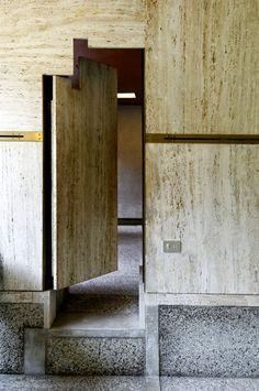 brass+stone door #architecture
