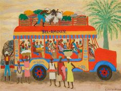 Haitian Camion (c 1953) Oil on Composition Board 19.25 x 29 inches Courtesy of Bank of America