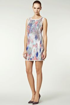 Blurred Lily Sequin Silk Dress