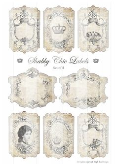 Free Chic Printable Gift Tags | SHABBY CHIC LABELS - Gift Tags - Epherma - Hang Tags - Digital Collage ...