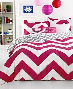 Chevron Pink 5 Piece Comforter Sets - Teen Bedding - Bed & Bath - Macy's
