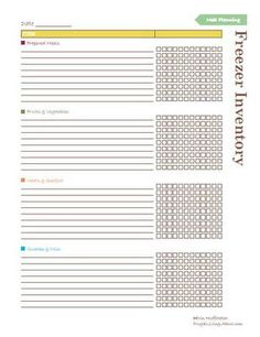 Avoid freezer burn by keep track of everything in your freezer. This printable freezer inventory list makes it easy.