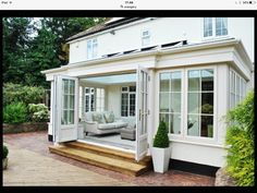 kitchen extensions An orangery differs from a conservatory in that it classifies as an extension of your home, not an addition. I searched for this on Garden Room Extensions, House Extensions, Kitchen Extensions, Orangerie Extension, Orangery Extension Kitchen, Kitchen Orangery, Patio Plan, 4 Season Room, Sunroom Addition