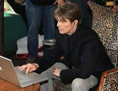 Pictures of David Bowie Doing Normal Stuff