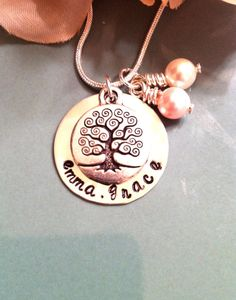 Hand Stamped Mommy Necklace  Personalized by ForeverHeartPrints, $50.00