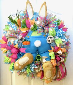 DIY Easter Bunny with Legs Wreath by Trendy Tree | Wreath Making ...