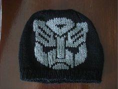 Ravelry: Transformer inspired Autobot Symbol chart pattern by Nancy Fry Crochet Kids Hats, Crochet Cap, Crochet Beanie, Knitted Hats, Knitting Charts, Knitting Patterns Free, Free Knitting, Crochet Patterns, Free Pattern