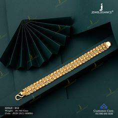 Casting Bracelet gms) - Plain Gold Jewellery for Men by Jewelegance Gold Bracelet Indian, Mens Gold Bracelets, Mens Gold Jewelry, Gold Wedding Jewelry, Gold Jewelry Simple, Gold Rings Jewelry, Gold Jewellery, Gents Bracelet, Bracelet Men