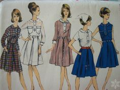 1960's Vogue Pattern 6514  Size 12 One Piece Shirt by IcicleGarden