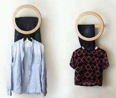 While I've never seen a valet stand at any of my clients' homes, I still think they can be really useful—and a real valet stand is nicer than an ironing board or a treadmill serving as a valet stand. The Modo wall valet from Artful is a clever design; clothes