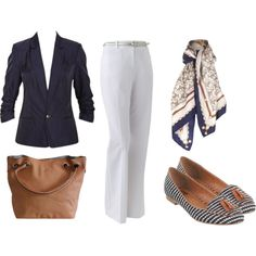 More Navy & White by annabouttown on Polyvore featuring polyvore, fashion, style, Apt. 9, Dolce Vita and Niclaire