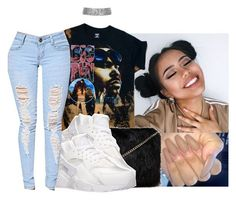 """""""#trendy"""" by eazybreezy305 on Polyvore featuring Forever 21, NIKE, Trendy and 2017"""