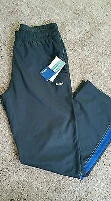 NWT REEBOK Women's Athletic Yoga Walk Stretch Workout Black Pants Sz M, Relaxed