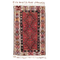 West Anatolian Kilim | From a unique collection of antique and modern turkish rugs at https://www.1stdibs.com/furniture/rugs-carpets/turkish-rugs/