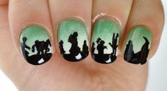 Alli of Lacquer Up! is a 22 year old university student with a healthy obsession for nail art. She painted these lovely nails based on The Lord of the Rings: The Fellowship of the Ring. Does it inspire you to get creative?