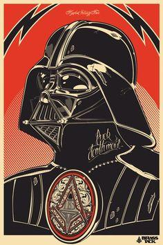 Excelente poster de Darth Vader - Puerto Pixel | Recursos de Diseño