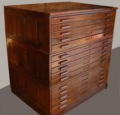 Antique hamilton oak architect blueprint cabinet file set httpfrightquestwonderful flat filing malvernweather Gallery