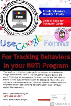 Organize & streamline your Behavior RTI program. This form is created using Google forms and can be copied to your Google Drive. Teachers can complete a questionnaire & make a referral electronically. You will receive a notification every time a student is recommended. Collecting data for your BRTI program will be made easy! #BRTI #GoogleForm #BRTIreferral #DataCollection #CreativeCounselor #CreativeCounselingResources Behavior Goals, Student Behavior, Elementary School Counselor, Elementary Schools, Response To Intervention, No Response, Counseling Activities, Data Collection, Google Drive