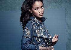 Rihanna by Craig McDean for British Vogue April 2016 also featuring Manolo Blahnik Editorial: These Boots Weren't Made For Walking Fashion Editor: Kate Phelan / Apparel: Rihanna X Manolo Blahnik's Denim Desserts Collaboration 'This is an incredibly exciting collaboration and I am absolutely thrilled with the results – working with Rihanna has been amazing and …
