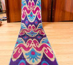 Beautiful designed ikat fabric by the yards, purple, pink, blue, uzbek, ikat, textile, design fabric, design textile, home textile, Silkway