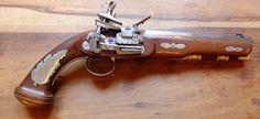 1740 - Reproducció actual d'una Pistola amb pany miquelet feta a l'Argentina de l'època colonial espanyola.