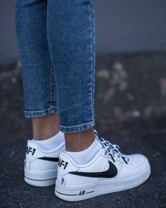 I will be the first to admit that I am serious sneaker addict. This month's purchase are these Nike Airforce 1 sneakers. When I am looking for new sneakers (or Moda Sneakers, Cute Sneakers, New Sneakers, Cute Shoes, Sneakers Fashion, Me Too Shoes, Sneakers Nike, Sneakers Women, Jeans Fashion