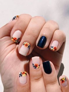 Simple Fall Nails, Cute Nails For Fall, Gel Nails For Fall, Cute Gel Nails, Cute Acrylic Nails, Gorgeous Nails, Pretty Nails, Beautiful Gorgeous, Fall Nail Designs