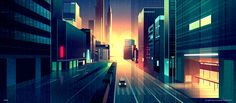 Brilliant Digital Illustrations of a City by Night – Fubiz Media