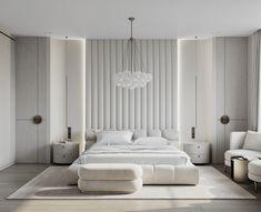 White Bedroom Design, White Interior Design, Interior Sketch, Architecture Design, Residential Architecture, Behance, Luxurious Bedrooms, Home Bedroom, Bedroom Ideas