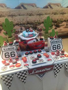 Cars Lightning McQueen birthday party! See more party ideas at CatchMyParty.com!