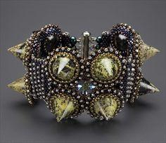 Serpentine Spiked Cuff Bracelet