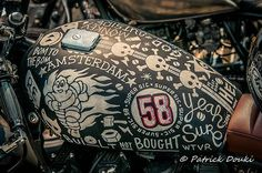 Custom artwork motorcycle gas tank | Patrick Douki