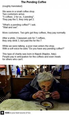 I wish we could do that at the coffee shops here. <3