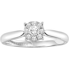 Keepsake Harmony 1/4 Carat Diamond Engagement Ring in Sterling Silver, Women's, Size: 5