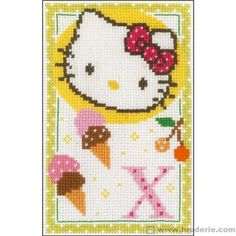 Hello kitty lettre x