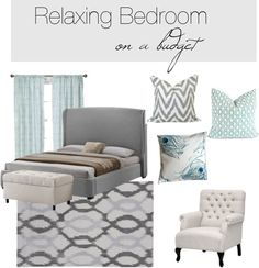 """""""Relaxing Bedroom on a budget"""" by rachel-hampton-wong on Polyvore"""