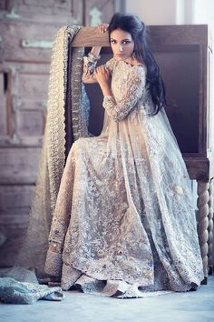 Elan bridal collection 2016 have all the luxury bridal designs that you would like to wear on your wedding day check all the traditional designs of bridal dresses in pix gallery. Latest Bridal Lehenga, Pakistani Wedding Dresses, Pakistani Outfits, Indian Dresses, Indian Outfits, Pakistani Gowns, Dress Wedding, Latest Wedding Dresses Indian, Anarkali Bridal