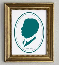 Robert Frost Profile Silhouette Portrait