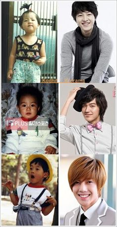 As babies: Song Joong Ki, Lee Min Ho, Kim Hyun Joong