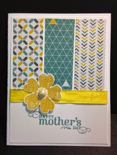 Flower Shop, Mother's Day Card, Stampin' Up!, Rubber Stamping, Handmade Cards