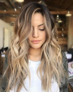 Lovely Ash Blonde Balayage With Brown Roots