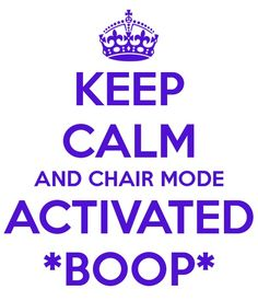 CHAIR MODE ACTIVATED!! *boop* Gotta love Pewdiepie. :)