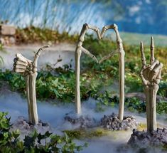 Skeleton Ground Breaking Hands. Too early to start planning for fun Halloween displays? I think not. Love the vibe from Grandin Road's new Halloween collection!