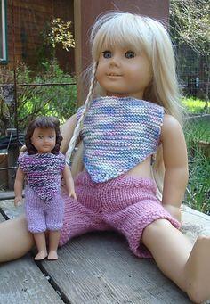FingeringRavelry: American Girl Doll 6 inch Mini Molly's Cuffed Capris &…