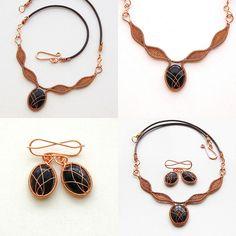 Goldstone in copper on leather cord | Izabella Bako | Flickr