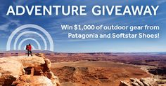 Win $1000 of outdoor gear from Patagonia and Softstar Shoes! Entering is super easy. http://woobox.com/vjcpam/j1an77