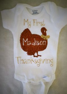 My First Thanksgiving Onesie Or T Shirt Thanksgiving By Iloveco