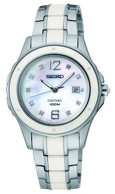 Seiko Coutura Watch, with ceramic bezel and Mother-of-Pearl dial, SNDE85  www.SeikoUSA.com