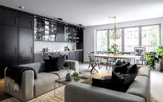 Черно-белый интерьер с золотыми деталями 81 кв. м - Дизайн интерьеров | Идеи вашего дома | Lodgers